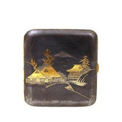 Old Japanese Komai Gold Silver Cigarette Case #896726