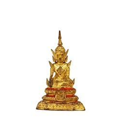 19C Tibetan Thai Thailand Gilt Bronze Buddha #896729