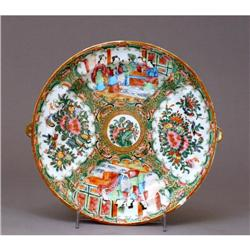 19C Chinese Export Canton Rose Medallion Plate #896734