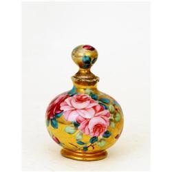 Old Japanese Nippon Gold & Roses Perfume Bottle #896736