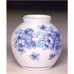 Lg Japanese Koransha Fukagawa Flower Vase Mk #896738