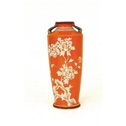 Japanese Nippon Moriage Orange Wedgewood Vase #896739
