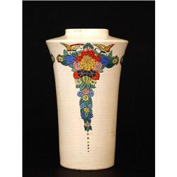 Old Japanese American Satsuma Vase Art Deco #896740