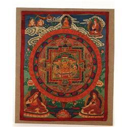 Late 19th Century Tibetan Thanka Buddha #1 #896745