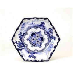 1920 Japanese Blue & White Imari Seto Plate #896746
