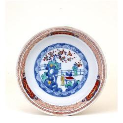 Old Japanese Imari Kakiemon Style Plate Enamel #896748