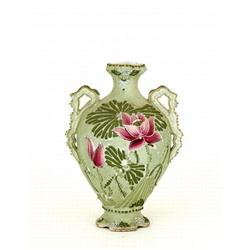 Old Japanese Nippon Moriage Flower Vase #896749