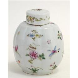 Chinese Export Enamel Famille Rose Tea Caddy #896750