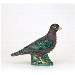 Old Chinese Export Famille Verte Porcelain Bird #896752