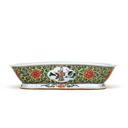 Old Chinese Export Famille Rose Old Men Bowl #896769
