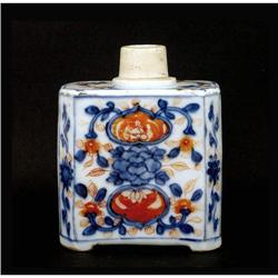 Old Chinese Export Imari Style Tea Caddy #896772