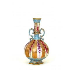 Nippon Japanese Beaded Moriage Bottle Vase #896788