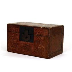Old Chinese Export Lacquer Tea Caddy Box #896790