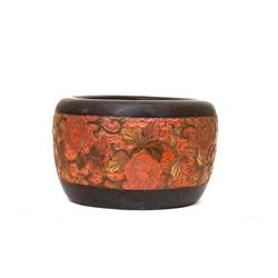 Old Japanese Wood Lacquer Hibachi Tea #896806
