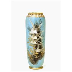 Old Japanese Nippon Beaded Flying Geese Vase  #896820