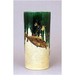 Old Japanese Lacquer Imari Kutani Vase Lobster #896823