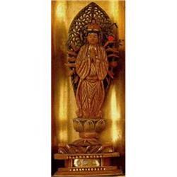 Old Japanese Lacquer Travel Shrine Buddha Zushi #896825