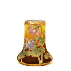 Old Japanese Nippon Coralene Flower Vase Mk #896830