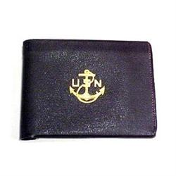 Antique Leather Wallet US Navy Embossed #896834