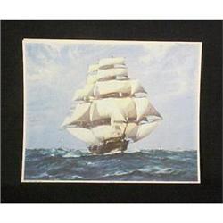 Clipper Ships Schooner Yachts Lithographs #896841