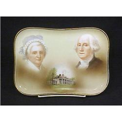 Antique Limoges Porcelain Tray Portraits #896847