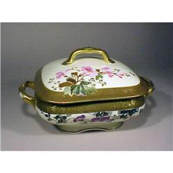Limoges Redon Covered Serving Dish Gold Enamel #896848