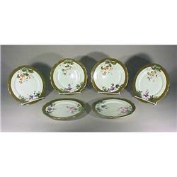 6 Limoges Redon Dinner Plates Gold Enamel #896849