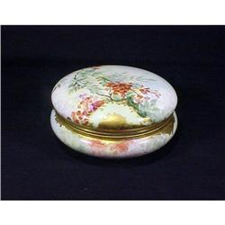Antique  Enamel Gilt Large Limoges Box #896854