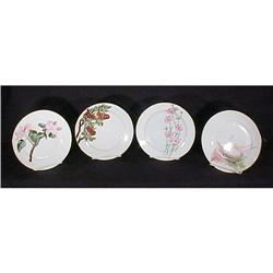 Antique 4 Hand Painted Limoges  Plates 1883 #896857