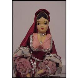 Doll Ravca Papier Mache Katherine Parr #896899
