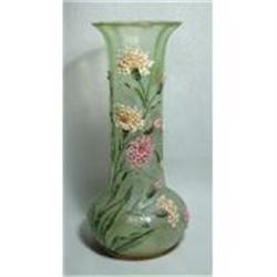 Vaseline Enamel Flower Vase #896926
