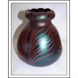 Loetz Pulled Feather Tulip Top Vase #896929