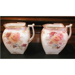 2 Doulton Burslem Ceramic pitchers ca.1895 #896931