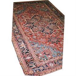 """Persian Antique Heriz Rug---11'-9""""x7'-10"""" #896938"""