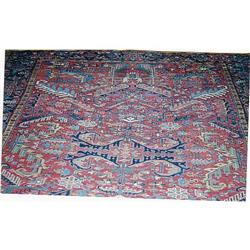 "Persian Heriz Rug---10'-9""x8'-3"" #896953"