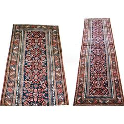 "Persian Malayer Runner Rug---13'-6""x3""-3"" #896968"