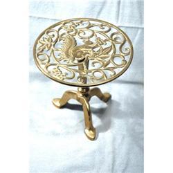 Antique Brass Squirrel Pedestal Trivet  #896978