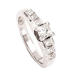 1.50 ct GIA diamond engagement ring princess #896988