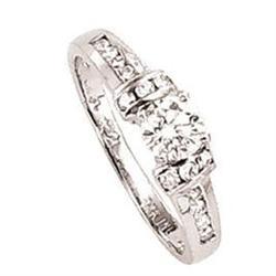 Diamond ring white gold jewelry 1.24 carat #896990