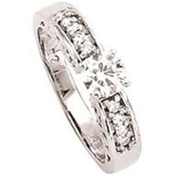 SOLITAIRE 1.24 carat  diamond ring white gold #896991