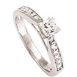 Genuine DIAMOND RING 1.5 carat princess cut #896993