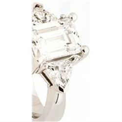 0.65 CTS 3 STONE DIAMOND RING WHITE GOLD #896995