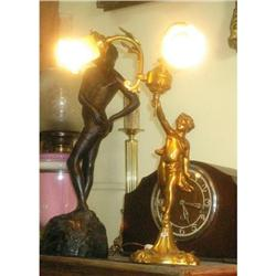 2 Lights French table lamp with Putti #897003