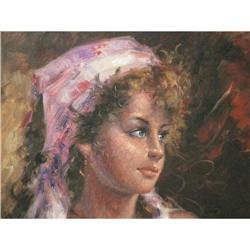 Fine oil on canvas signed  #897005