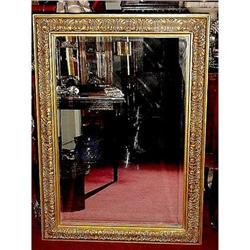 French Mirror carved frame  beveled crystal #897009