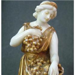 gilt porcelain biscuit  Capodimonte figurine #897010