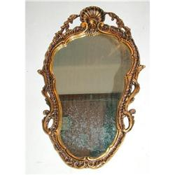 Original French mirror  carved and  gold leaves #897011