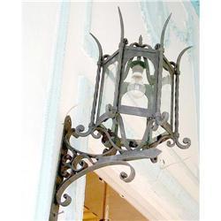 PAIR of iron  Architectural Lanterns #897012
