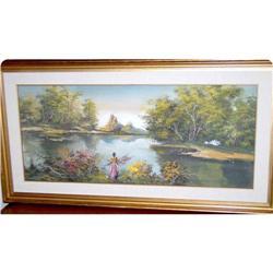 Oil on board decorative landscape  scene  #897022