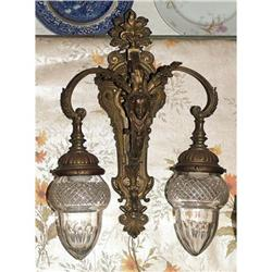French Empire Style bronze wall sconce  #897024